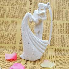 Wedding Cake Accessories Wedding Cake Topper Bride And Groom Resin White Color Wedding
