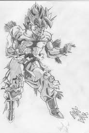 dragonball z gt sketch goku power up jpg