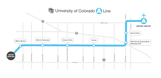 gateway colorado map rtd of colorado a line stations parking