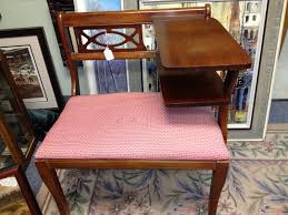 Antique Benches For Sale C Dianne Zweig Kitsch U0027n Stuff Vintage Telephone Table Or