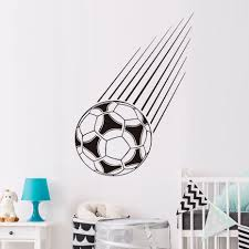 compare prices on wall stickers with football online shopping buy sport home decor falling football wall sticker vinyl removable decals home decoration soccer sports wall art