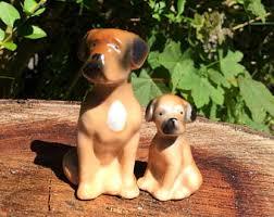 boxer dog statue boxer dog figurine etsy