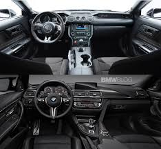 Bmw M4 Interior Shelby Gt350 Compared To Bmw M4