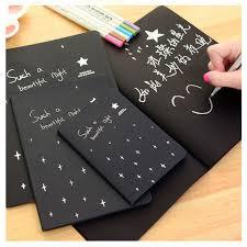 sketch book diary black paper drawing notepad graffiti notebook