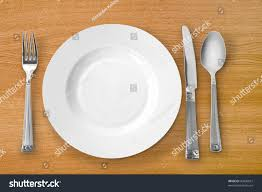 Kitchen Forks And Knives Plate Kitchen Utensils Fork Knife Spoon Stock Photo 40096567