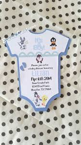 baby looney tunes baby shower decorations looney tunes baby shower invitation onesie invitation handmade