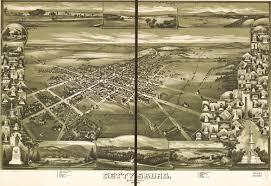 Birds Eye View Maps 1888 Bird U0027s Eye View Of Gettysburg Gettysburg Daily