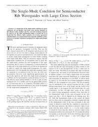 the single mode condition for semiconductor rib waveguides with
