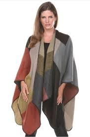westernwomenwear com western style color block cape