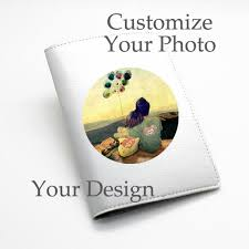 customize your own custom personalised pu leather passport holder wallet cover