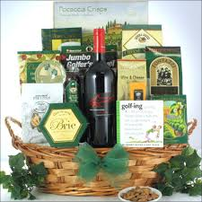 wine and cheese basket greg norman estates shiraz wine gift basket