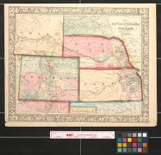 Colorado Map With Cities And Towns by Map Of Kansas Nebraska And Colorado Showing Also The Eastern