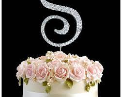letter s cake topper etsy