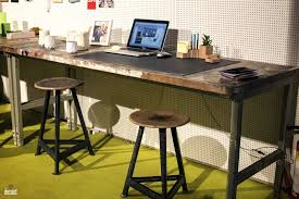 Work Desks For Office Office Industrial Home Office Desk In Wood And Metal Fabulous