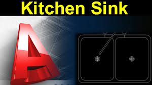 autocad tutorial kitchen sink design with actual dimension youtube