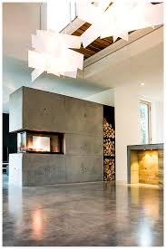 cool modern awesome nice wonderful 3 sided gas fireplace with