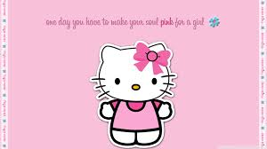 pink kitty hd desktop wallpaper widescreen