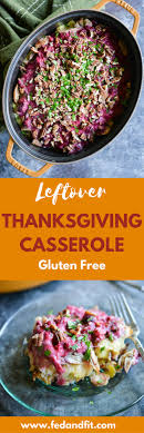 thanksgiving leftovers casserole fed fit