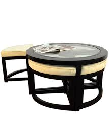 round coffee table with 4 stools spontaneous seatings in round coffee table with stools spanish