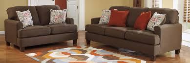 Ashley Living Room Furniture Buy Ashley Furniture 1600138 1600135 Set Deshan Chocolate Living