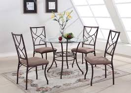 dining tables elegant round glass dining table set design round