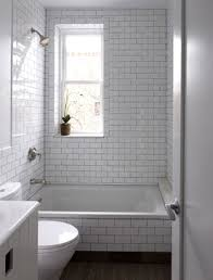 Subway Tile Bathroom Ideas by 3x6 White Subway Tile With Dark Brown Grout Bathroom