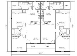 Duplex With Garage Plans Duplex House Plan J918d Plansource Inc