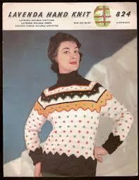 lister lavenda lady s scandinavian sweater knitting pattern 824 1950s