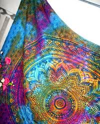 tie dye home decor psychedelic indian mandala multi color tie dye by tapestryhub2015