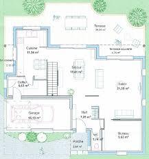 plan maison plain pied en l 4 chambres maison moderne plain pied 4 chambres 14 plan maison cubique