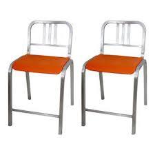 vintage u0026 used orange bar stools chairish