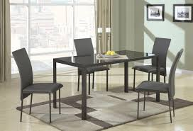 Black Glass Dining Table Large Black Glass Dining Table Set - Black glass dining room sets