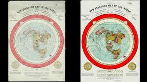 Flat Map Of World by Gleason U0027s Flat Earth Map Restoration Download Youtube