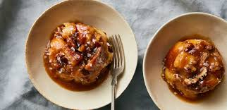 monkey bread pudding with sticky pecan toffee plated cook more