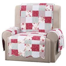 pink heirloom cottage patchwork recliner furniture cover sure
