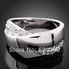 superman wedding rings high quality glaze rhinestones bow the men ring white gold color