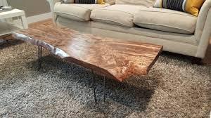 live edge table chicago coffee table wood slab coffee table diy live edge album on imgur