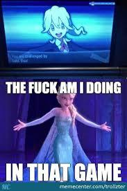 Elsa Meme - elsa is confused by trollzter meme center