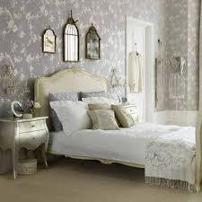 chic bedroom with grey wallpaper and french furniture decorating chic bedroom with grey wallpaper and french furniture