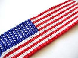 How To Sew A Flag How To Make An American Flag Friendship Bracelet Pdf