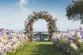 wedding arches coast amalfi coast destination wedding photographed by skog