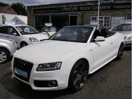 used audi a5 s line for sale used white audi a5 2009 petrol 2 0t fsi s line convertible in