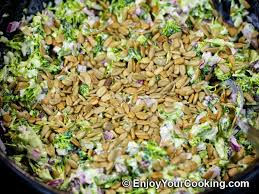 bacon sunflower seeds fresh broccoli salad with raisins and sunflower seeds recipe