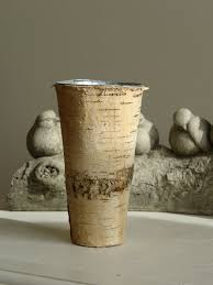 birch bark vases planter wedding flower pot rustic chic wedding
