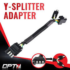 opt7 y splitter 4 tow pin connector adapter harness wiring for
