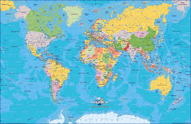 Sattelite World Map by World Map