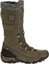 womens winter boots merrell women s polarand rove peak 200g waterproof winter boots
