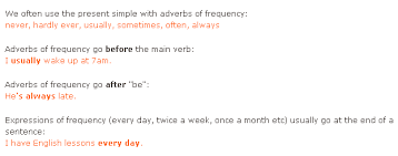 english exercises adverbs and expressions of frequency