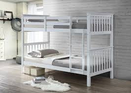 bunkbed in white solid white pine wood twin bunk bed frame bedroom