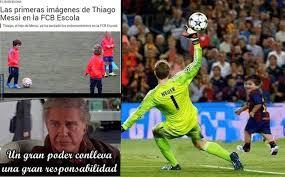 Memes Messi - los mejores memes del debut de thiago messi en el barcelona diez